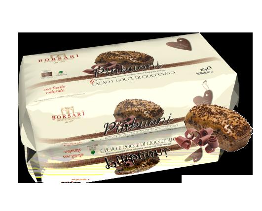 Piu Buoni cacao e gocce cioccolato colazione Borsari Maestri Pasticceri Colazione