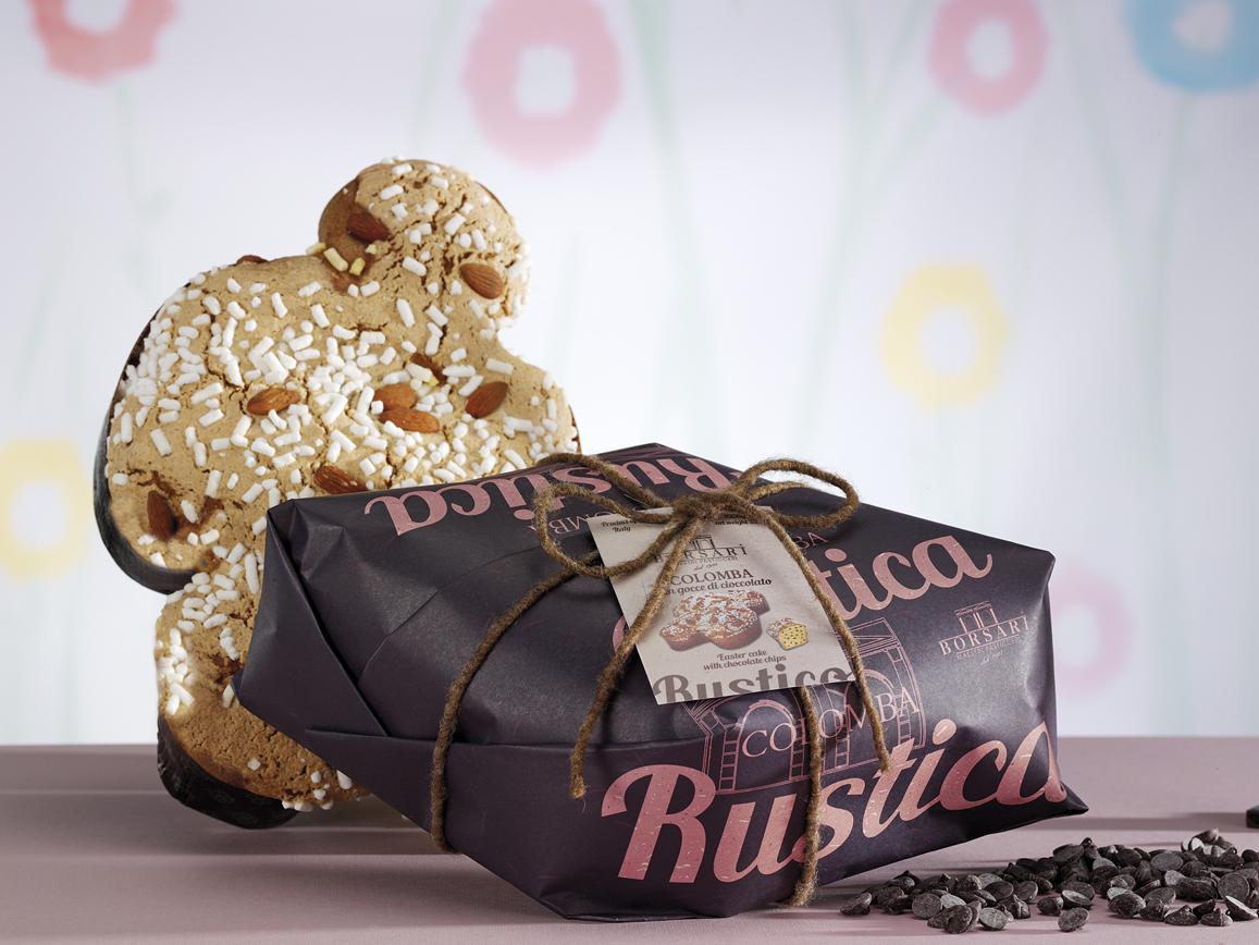 Colomba gocce di cioccolato Borsari Pasqua rustici