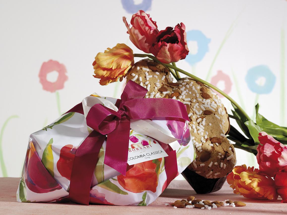 Colomba classica tulipani Borsari Pasqua