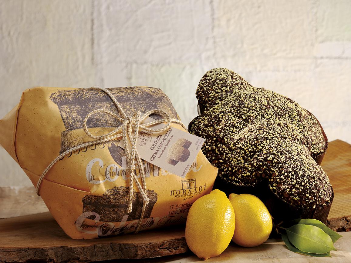 Colomba al limoncello Borsari Pasqua rustici