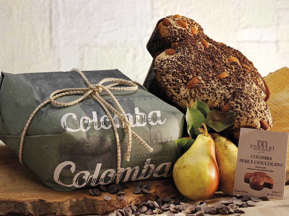 Colomba pere e cioccolato Borsari Pasqua rustici