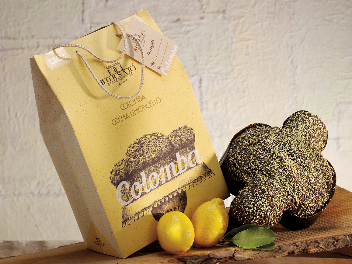 Colomba limoncello shopper Borsari Pasqua 2020
