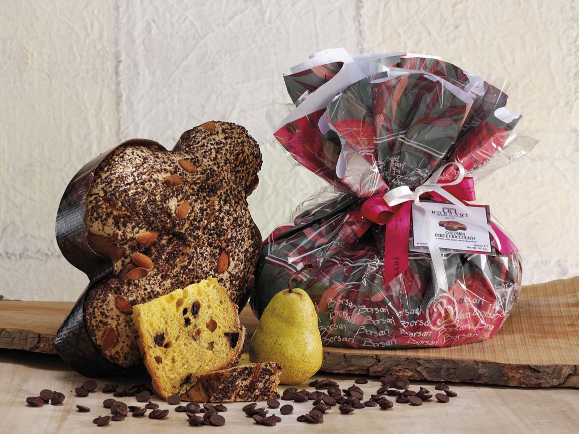 Colomba Pere e cioccolato Pasqua Borsari Tulipani