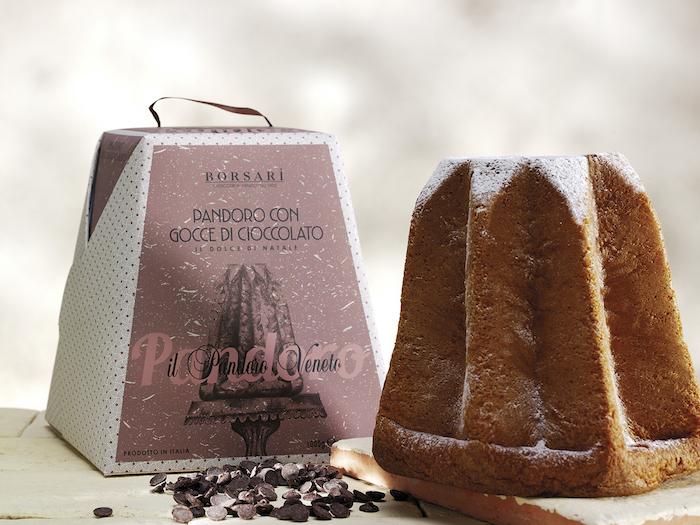 Pandoro Rustico Borsari Natale Astuccio Gocce cioccolato